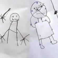 Τα σκίτσα των παιδιών αποκάλυψαν τη βαναυσότητα που ζούσαν από τους γονείς τους (εικόνες)