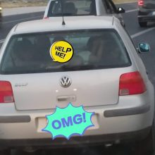 Μην το κάνετε ποτέ: Αυτοκίνητο στην εθνική οδό και το μωρό στην εταζέρα!
