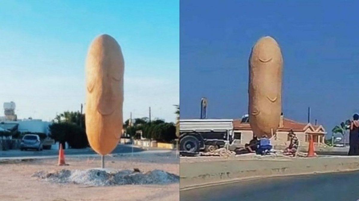 Μια γιγαντιαία πατάτα θα κοσμεί στο εξής την είσοδο του Ξυλοφάγου!