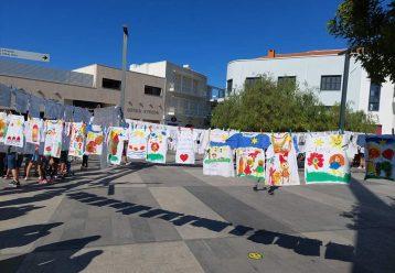Μαθητές της Πάφου «άπλωσαν ευτυχία» για τα παιδιά με καρκίνο (εικόνες)